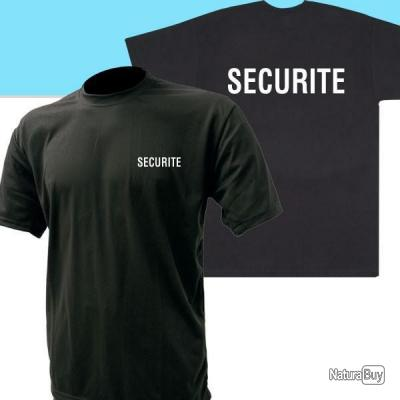 T-shirt SECURITE NOIR
