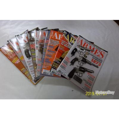 10 REVUES GAZETTE DES ARMES 488 à 497