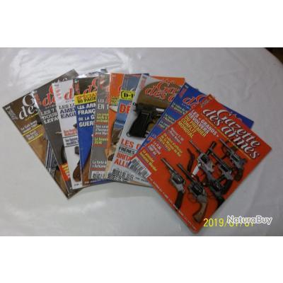 10 REVUES GAZETTE DES ARMES 458 à 467