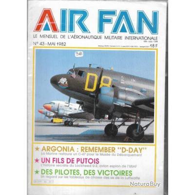 air fan n°43 . revue de l'aviation , c 47 restauré , lockheed u-2, as de la luftwaffe