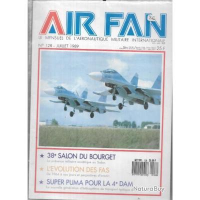 air fan n°128 . revue de l'aviation , super puma pour la 4e dam, 38e salon du bourget , évolution fa