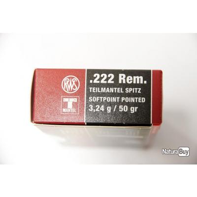PROMO!!! Lot de 60 Munitions RWS  Calibre 222 rem 50grs