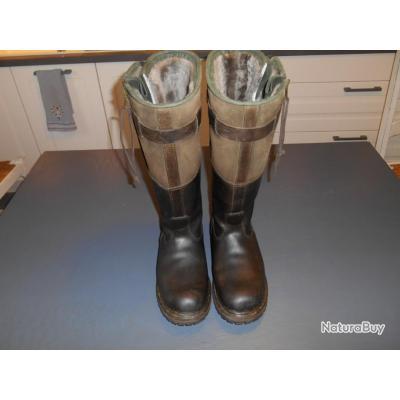 bottes grand froid en cuir 44