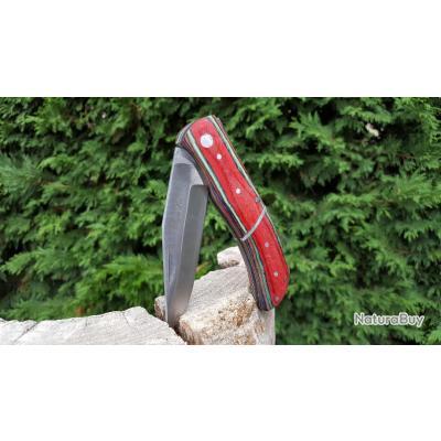 Couteau chasse 21,5cm - bois MULTI-COULEURS Avec cran d?arrêt