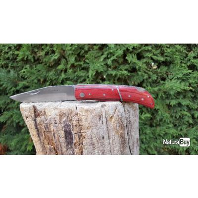 Couteau chasse 21,5cm - bois ROUGE