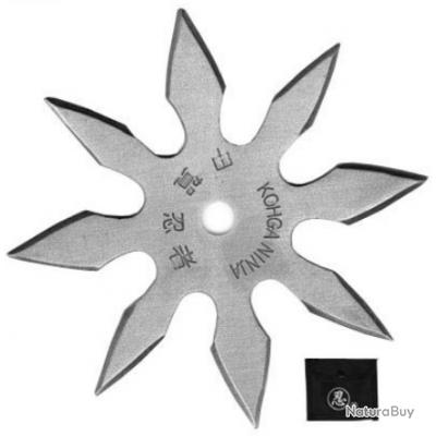 Etoile de jet 8 pics, shuriken lancer - acier inox EL2