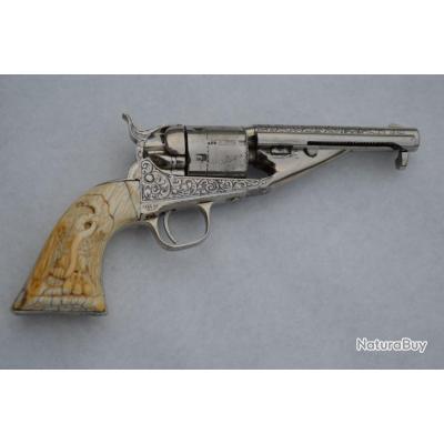 REVOLVER COLT 1861 Gravé Conversion 38 Long Colt - US XIXè Très bon  U.S.A. XIX eme Categorie D