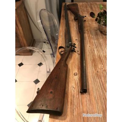 Paire de fusils de chasse anciens, très bon état, pas d'oxydation.