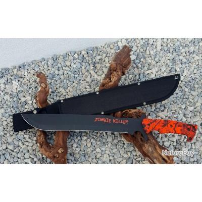 MachetteS Zombie Killer lame lisse 52 cm avec étui ref21514