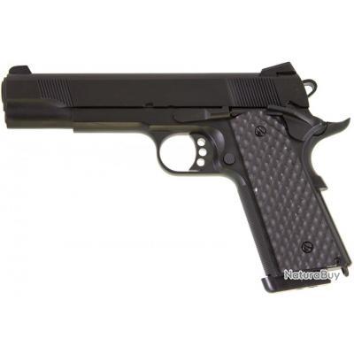 ( Chargeur gaz 6 mm airsoft)Réplique GBB 1911 MEU Raven full metal gaz noir 1,0J