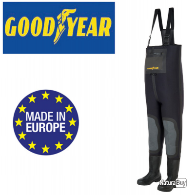 WADERS GOODYEAR NEOPRENE 4MM AVEC RENFORTS TAILLE 44    A 110 EUROS