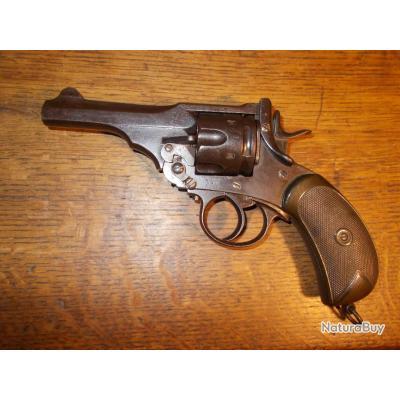 Beau revolver Webley Mk IV réglementaire cal 455 guerre des boers bien marqué