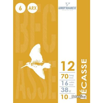 """DESTOCKAGE""  cartouches Unifrance Becasse cal 12/70   38g  ARX  lot de 250 cartouches"