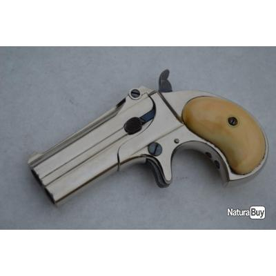 PISTOLET Double DERRINGER REMINGTON Calibre 41RF - US XIXè U.S.A. XIX eme Neuf  Categorie D