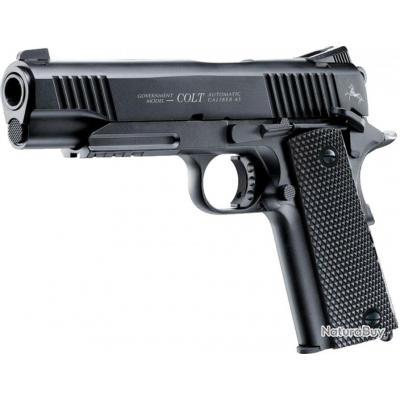 ( Pistolet CO2 Colt M45 noir CQBP)Pistolet CO2 Colt M45 noir CQBP BB's cal 4,5 mm