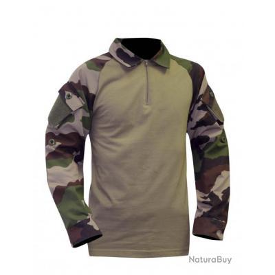 Camouflage Chemise de combat type ubas coton
