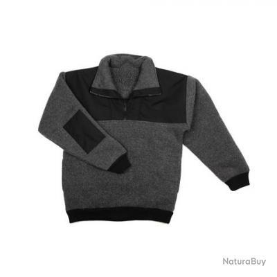 pull en 2 tons gris  et  noir - taille S = 42 - 131350 -  fin de série