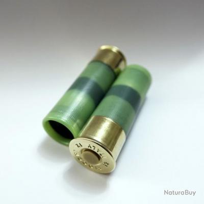 2 cartouches C4MO : Douille amortisseur calibre 12 factice pour contrôle, manipulation, exercices