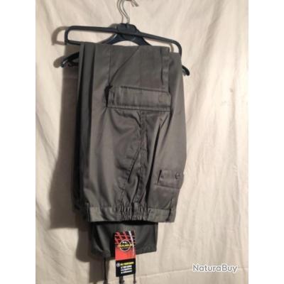 Pantalon léger marron/vert