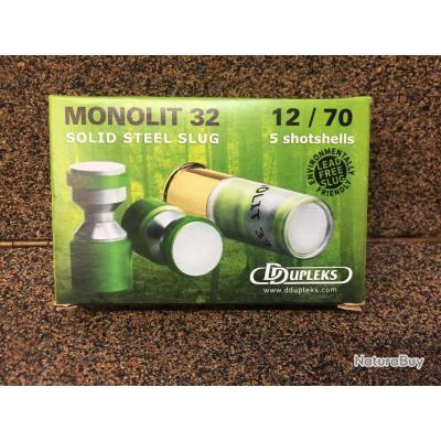 1 Boite de 5 Cartouches Ddupleks Monolit 32 cal.12/70  dupleks