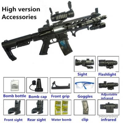 Fusils AR-15 a air comprimé bille a eau paintball jouet garcon