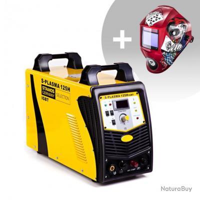 Set d'équipement de soudage Découpeur plasma - 125A - 400V + Masque de soudure - Pokerface - PROFESS