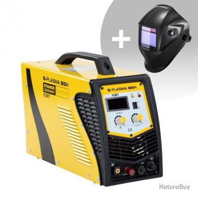 Set d'équipement de soudage Découpeur plasma - 85A - 400V + Masque de soudure - Carbonic - PROFESSIO