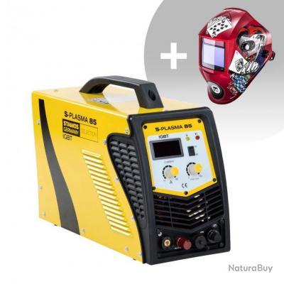 Set d'équipement de soudage Découpeur plasma CNC - 85A - 400V + Masque de soudure - Pokerface - PROF