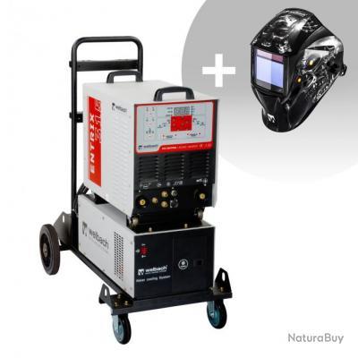 Set d'équipement de soudage Poste à souder aluminium - 315A - 400V - Puls + Masque de soudure - Meta