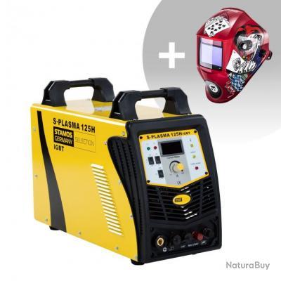Set d'équipement de soudage Découpeur plasma CNC - 125A - 400V + Masque de soudure - Pokerface - PRO