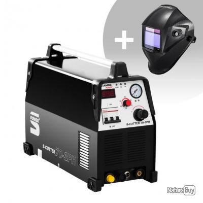 Set d'équipement de soudage Découpeur plasma - 70A - 400V + Masque de soudure - Carbonic - PROFESSIO
