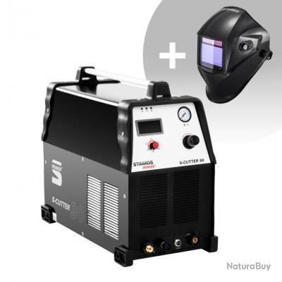 Set d'équipement de soudage Découpeur plasma - 90A - 400V + Masque de soudure - Carbonic - PROFESSIO