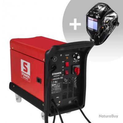 Set d'équipement de soudage Poste combiné - 195A - 230V - chariot + Masque de soudure - Metalator- E