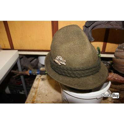chapeau tyrolien en feutre tres bon etat t 57