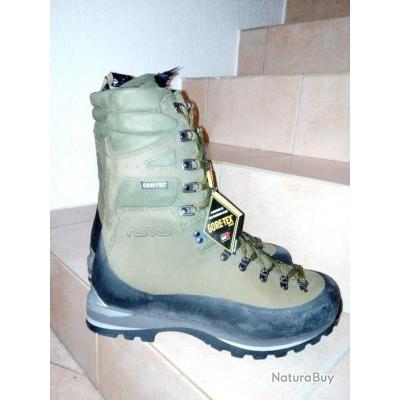 Chaussures ASOLO MONTAGNE trek TIGE HAUTE / montagne randonnée / chasse / goretex / armée