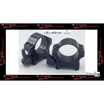 Colliers Acier amovibles BAS - Diam. 30mm - Rusan Quick-release  pour rails  weaver & picatinny