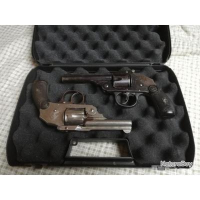 lot de 2 revolvers IVER et JOHNSON cal. 38 SW cat. D vente libre +18 ans