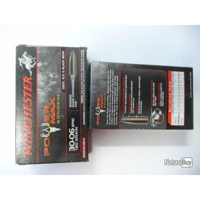 LOT DE 40 MUNITIONS WINCHESTER POWER MAX CAL 30 06 180GR