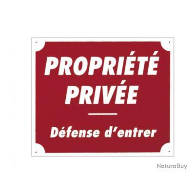 ( Aluminium)Panneau ''Propriété privée'' 30 x 25 cm