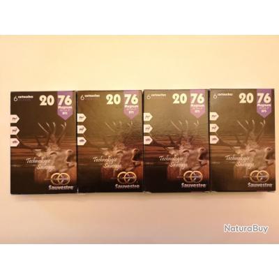 4 boîtes de cartouches à balle Sauvestre calibre 20 Magnum (20/76) SUPER PROMO !!!