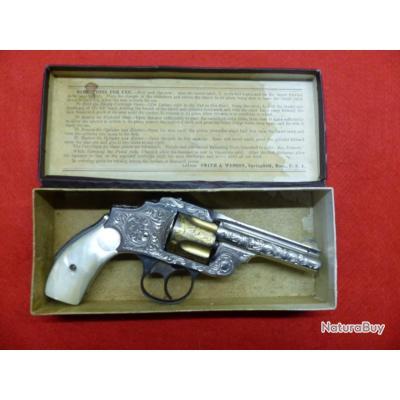 MAGNIFIQUE ET TRES RARE SMITH & WESSON SAFETY 3e Mod. CAL. 38 SW  PAT. JUNE.3.1890