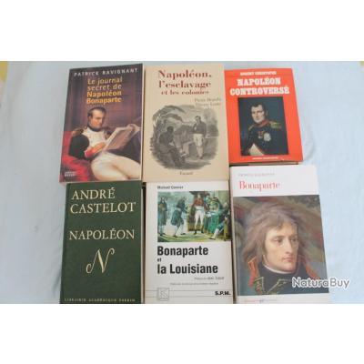 Lot 6 ouvrages Napoleon