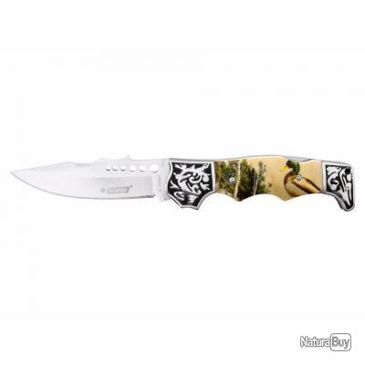 Couteau de Poche Chasse Canards KANDAR + Etui Holster Offert Lame 440C