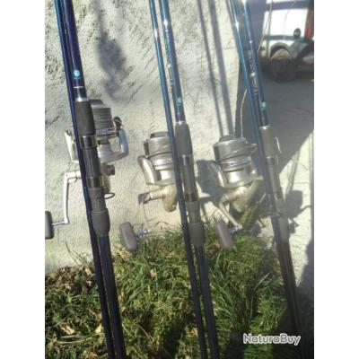 ensembles silure moulinets Shimano Ultegra 10000 XT avec tresse caperlan 60LBS et cannes 3.60m 5 LBS
