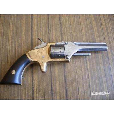 Rare et Exeptionnel Revolver MANAHTTAN de Decembre1859 - Calibre 5;5 ( bosquettes ) 7 coups