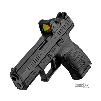 Pack Pistolet CZ P-10 C Optic ready calibre 9x19 mm + point rouge meopta meored 30