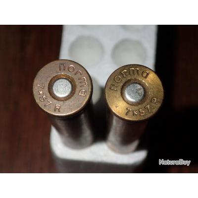Lot de 2 balles en 7x57R - ogive SP - Norma