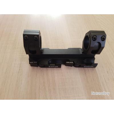 Montage tactique rapide pour lunette sur rail picatinny/weaver de 21mm QD AUTOLOCK