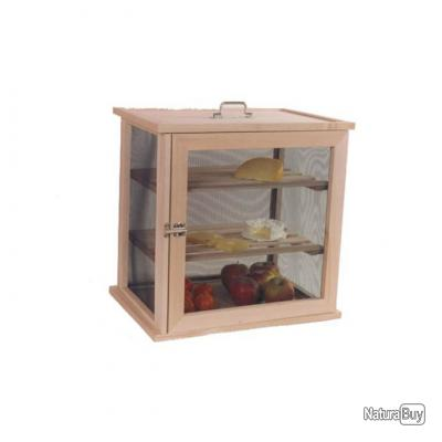 Traditionnel garde-manger fromager 2 claies en bois - 40x44x40cm