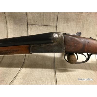 Fusil juxtaposé artisanal espagnol calibre 12/76